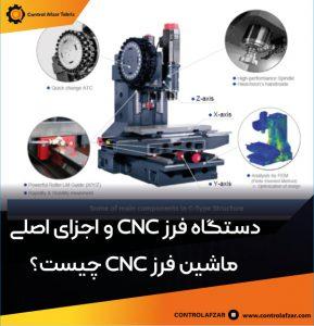 اجزای اصلی فرز cnc چیست ؟