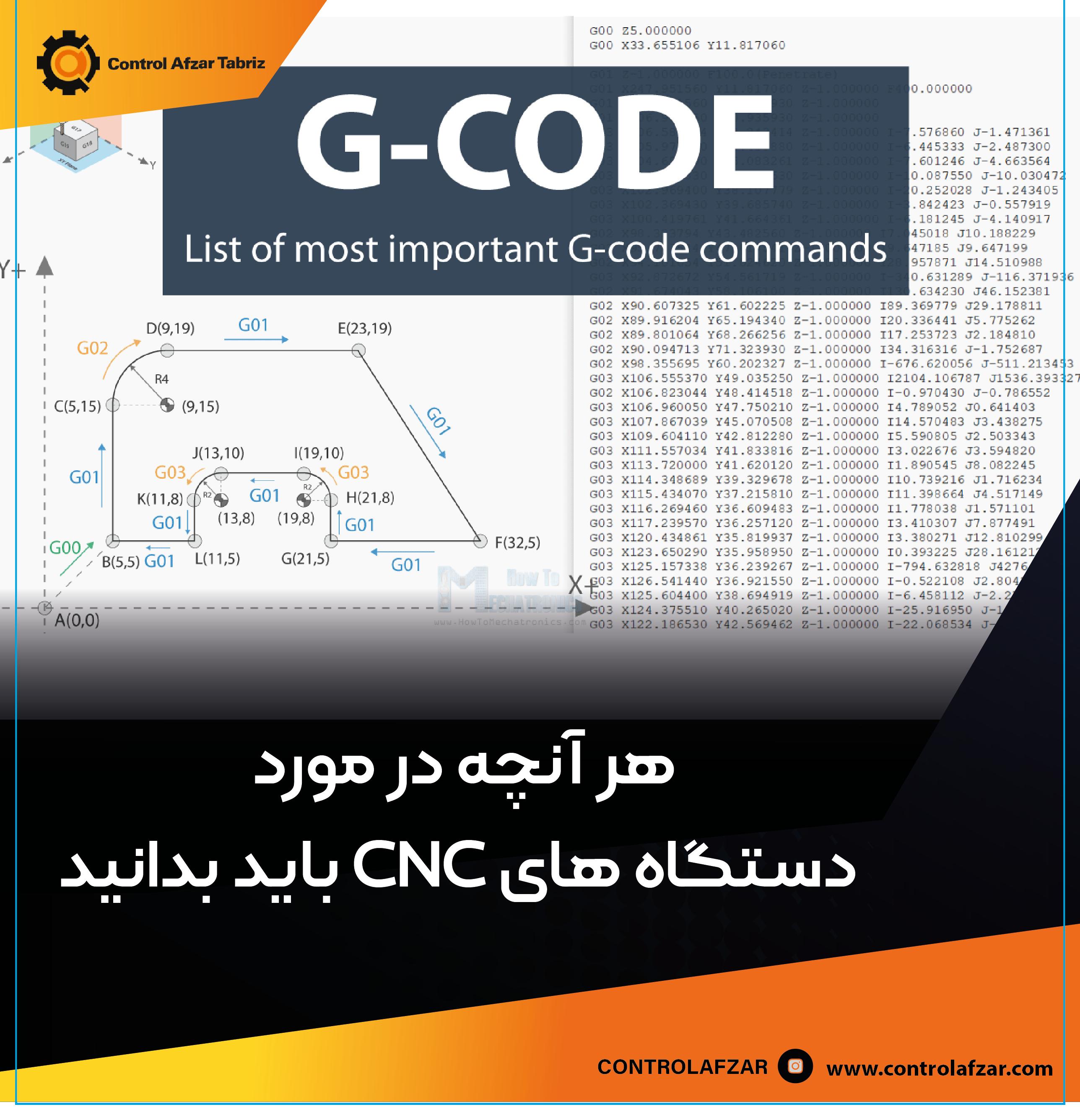 کد G دستگاه سی ان سی