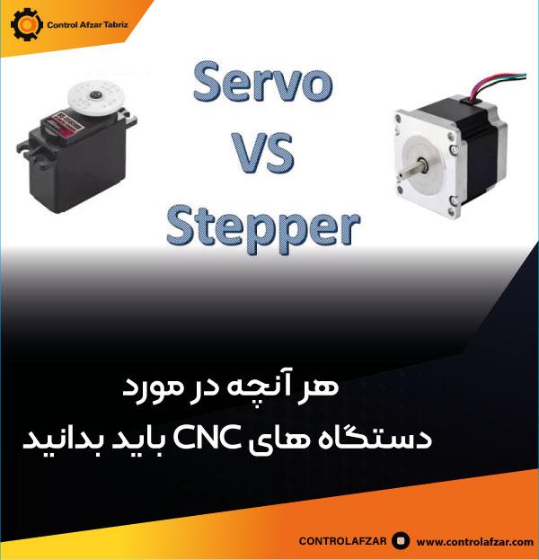 (step motor ) هدایت حرکت در ماشینکاری توسط موتور استپ (Servo motor ) یا سروو موتور